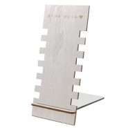 "Schmuckdisplay Holz ""Made with ♥"" Silver"