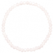 Top Facett Glas Armbänder 4x3mm Light lavender pink opal-pearl shine coating