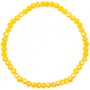 Top Facett Glas Armbänder 4x3mm Freesia yellow opal-pearl shine coating