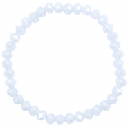 Facett Glas Armbänder 6x4mm Ice blue-pearl shine coating