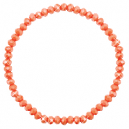 Facett Glas Armbänder 4x3mm Rust orange-pearl shine coating