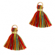 Perlen Quaste 1.5cm Gold-multicolour