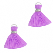 Perlen Quaste 1.5cm Silver-light purple
