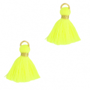 Perlen Quaste 1.5cm Gold-neon yellow