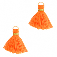 Perlen Quaste 1.5cm Gold-neon orange