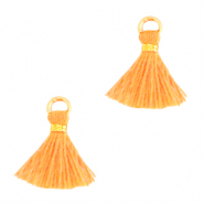 Perlen Quaste 1cm Gold-paradise orange