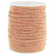 Fashion wire flach 5mm Rouge red-gold