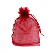 Schmuckbeutel Organza 10x13cm Dark red