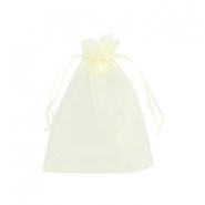 Schmuckbeutel Organza 9x12cm Light yellow