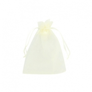 Schmuckbeutel Organza 7x9cm Light yellow